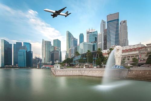 Ship goods to Asian countries including Singapore