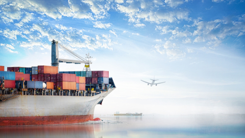 An image of how Freight Forwarding companies utilize different shipping methods