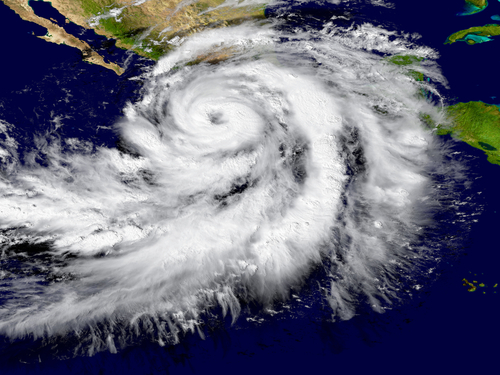 hurricane on the west coast of America